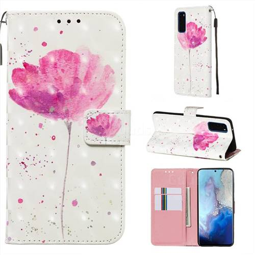 Watercolor 3D Painted Leather Wallet Case for Samsung Galaxy S20 / S11e