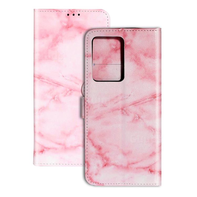 Pink Marble PU Leather Wallet Case for Samsung Galaxy S20 / S11e