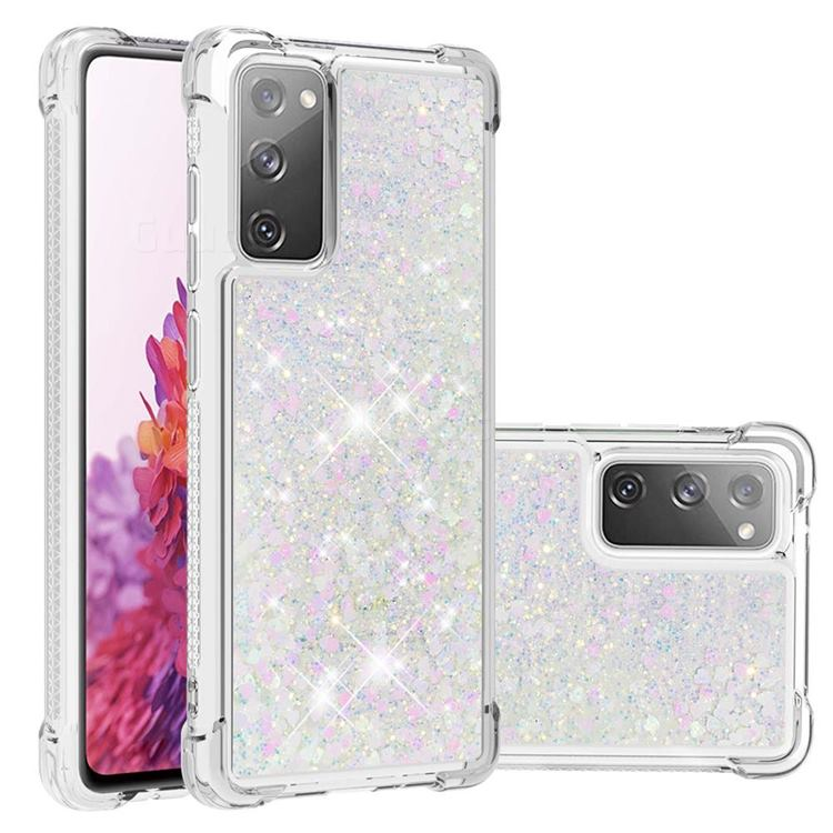 Dynamic Liquid Glitter Sand Quicksand Star TPU Case for Samsung Galaxy S20 FE / S20 Lite - Pink