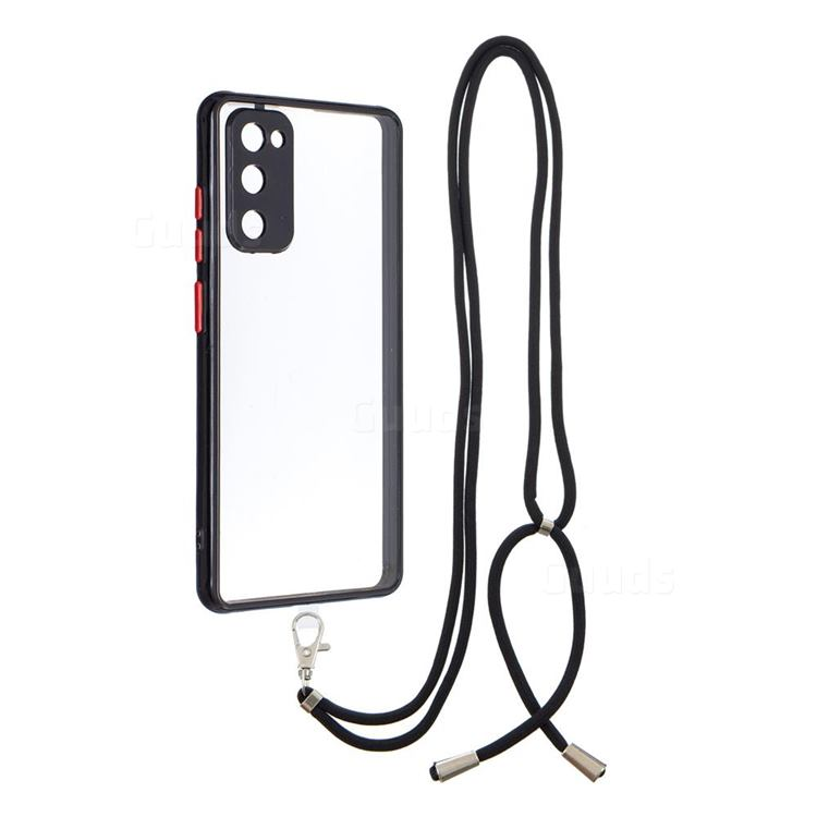 Necklace Cross-body Lanyard Strap Cord Phone Case Cover for Samsung Galaxy S20 FE / S20 Lite - Black