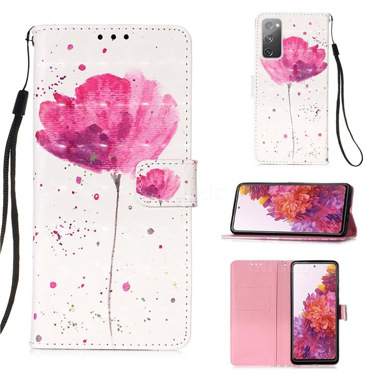 Watercolor 3D Painted Leather Wallet Case for Samsung Galaxy S20 FE / S20 Lite