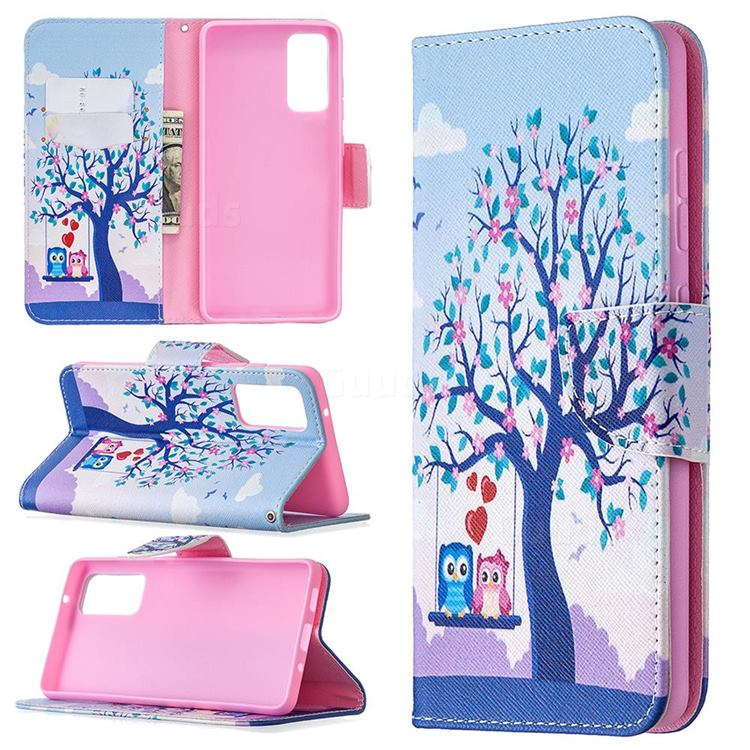 Tree and Owls Leather Wallet Case for Samsung Galaxy S20 FE / S20 Lite