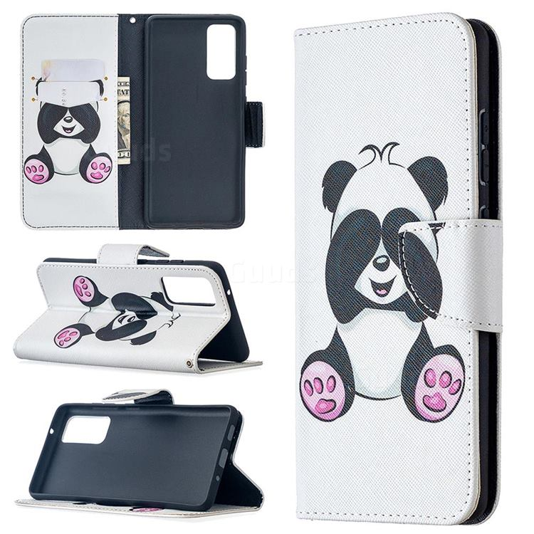 Lovely Panda Leather Wallet Case for Samsung Galaxy S20 FE / S20 Lite