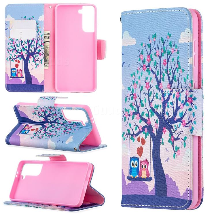 Tree and Owls Leather Wallet Case for Samsung Galaxy S21 / Galaxy S30