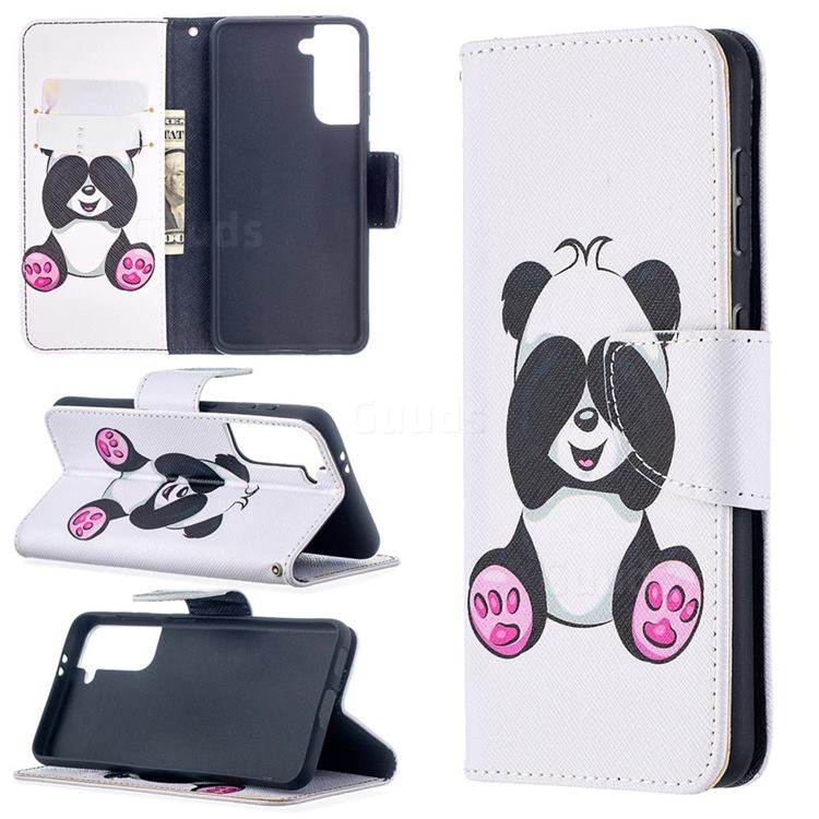 Lovely Panda Leather Wallet Case for Samsung Galaxy S21 / Galaxy S30