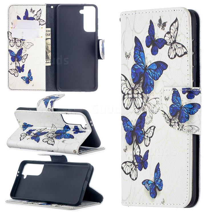 Flying Butterflies Leather Wallet Case for Samsung Galaxy S21 / Galaxy S30