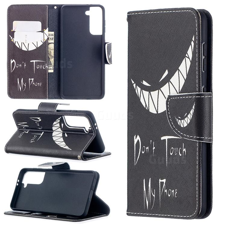 Crooked Grin Leather Wallet Case for Samsung Galaxy S21