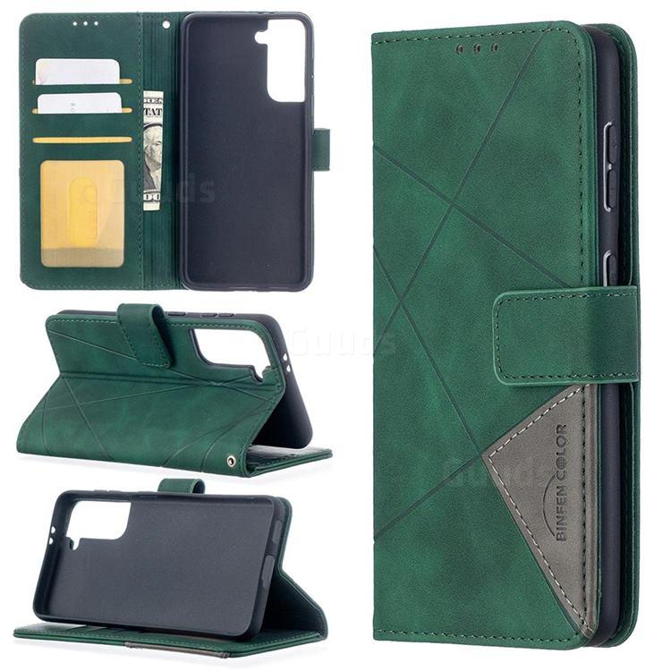Binfen Color BF05 Prismatic Slim Wallet Flip Cover for Samsung Galaxy S21 - Green