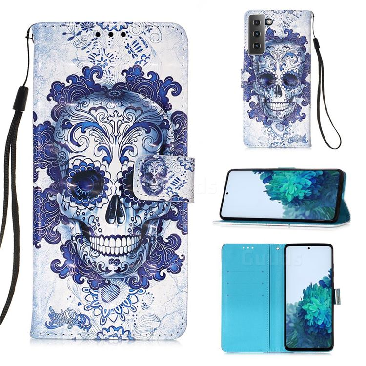 Cloud Kito 3D Painted Leather Wallet Case for Samsung Galaxy S21