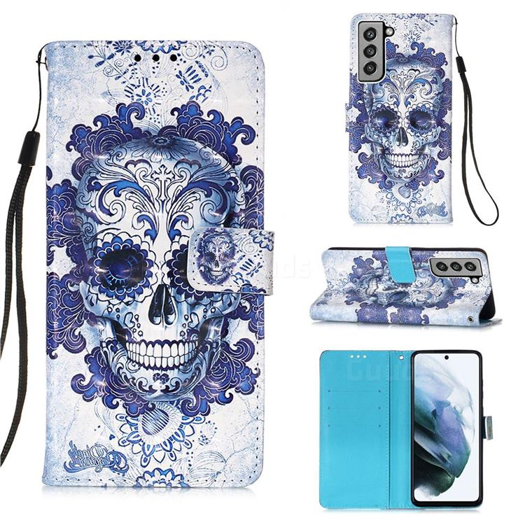 Cloud Kito 3D Painted Leather Wallet Case for Samsung Galaxy S21 FE