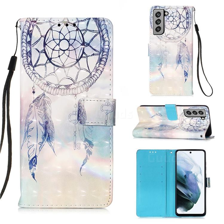 Fantasy Campanula 3D Painted Leather Wallet Case for Samsung Galaxy S21 FE