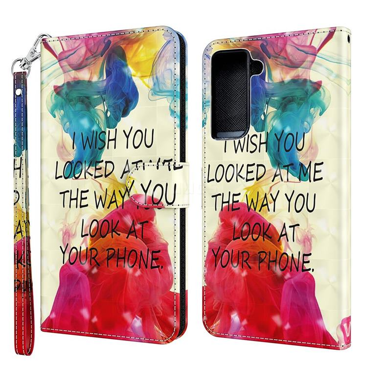 Look at Phone 3D Painted Leather Wallet Case for Samsung Galaxy S30 Plus / S21 Plus