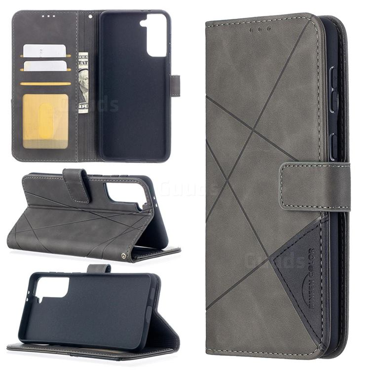 Binfen Color BF05 Prismatic Slim Wallet Flip Cover for Samsung Galaxy S21 Plus - Gray