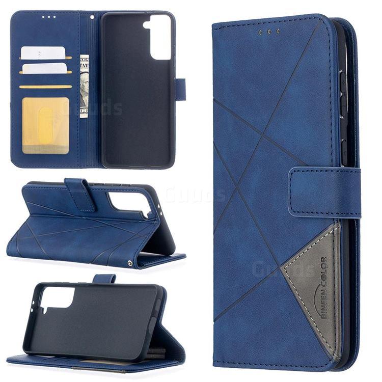 Binfen Color BF05 Prismatic Slim Wallet Flip Cover for Samsung Galaxy S21 Plus - Blue