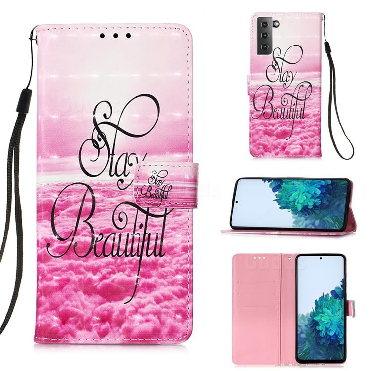 Beautiful 3D Painted Leather Wallet Case for Samsung Galaxy S21 Plus