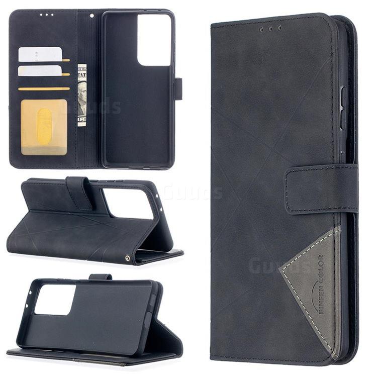 Binfen Color BF05 Prismatic Slim Wallet Flip Cover for Samsung Galaxy S21 Ultra - Black