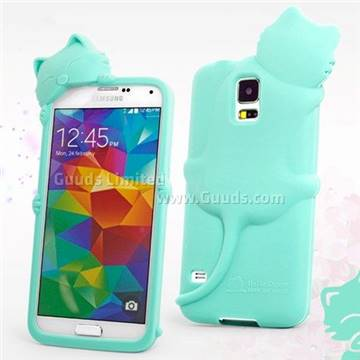 free shipping 58d9c 53a75 Hello Deere Diffie Cat Silicone Case for Samsung Galaxy S5 G900 - Tiffany