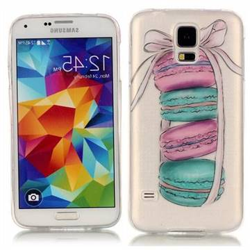 Macaron Super Clear Soft TPU Back Cover for Samsung Galaxy S5