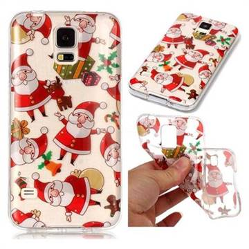 Santa Claus Super Clear Soft TPU Back Cover for Samsung Galaxy S5 G900