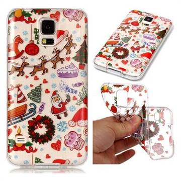 Christmas Playground Super Clear Soft TPU Back Cover for Samsung Galaxy S5 G900