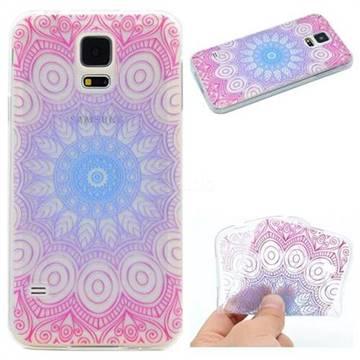 Colored Mandala Super Clear Soft TPU Back Cover for Samsung Galaxy S5 G900