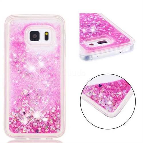 Dynamic Liquid Glitter Quicksand Sequins TPU Phone Case for Samsung Galaxy S5 G900 - Rose