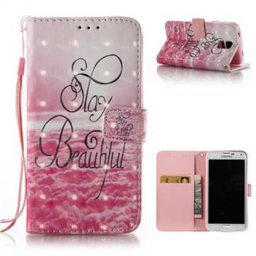 Beautiful 3D Painted Leather Wallet Case for Samsung Galaxy S5 G900