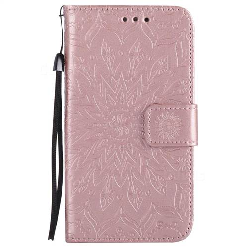 timeless design ca107 49b9c Embossing Sunflower Leather Wallet Case for Samsung Galaxy S5 G900 - Rose  Gold