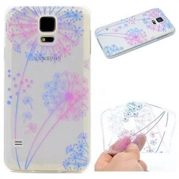 Rainbow Dandelion Super Clear Soft TPU Back Cover for Samsung Galaxy S5 Mini G800