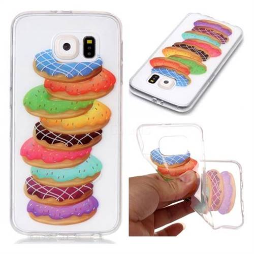 Melaleuca Donuts Super Clear Soft TPU Back Cover for Samsung Galaxy S6 G920