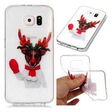 Red Gloves Elk Super Clear Soft TPU Back Cover for Samsung Galaxy S6 G920