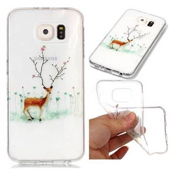 Branches Elk Super Clear Soft TPU Back Cover for Samsung Galaxy S6 G920