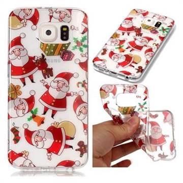 Santa Claus Super Clear Soft TPU Back Cover for Samsung Galaxy S6 G920