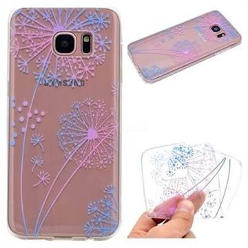 Rainbow Dandelion Super Clear Soft TPU Back Cover for Samsung Galaxy S6 G920