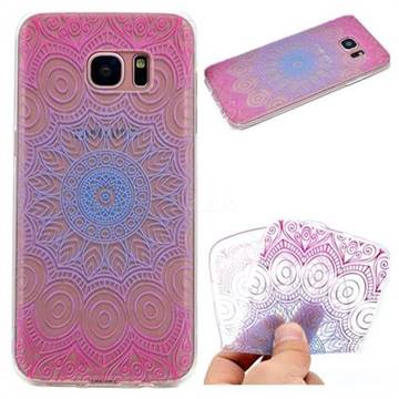 Colored Mandala Super Clear Soft TPU Back Cover for Samsung Galaxy S6 G920