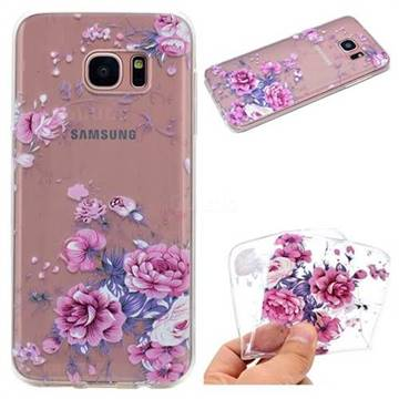 Peony Super Clear Soft TPU Back Cover for Samsung Galaxy S6 G920