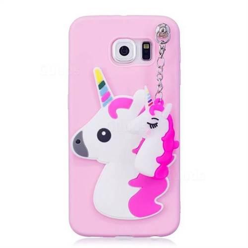 new concept 454e2 f1e0f Unicorn Pendant Soft 3D Silicone Case for Samsung Galaxy S6 G920 - Rose