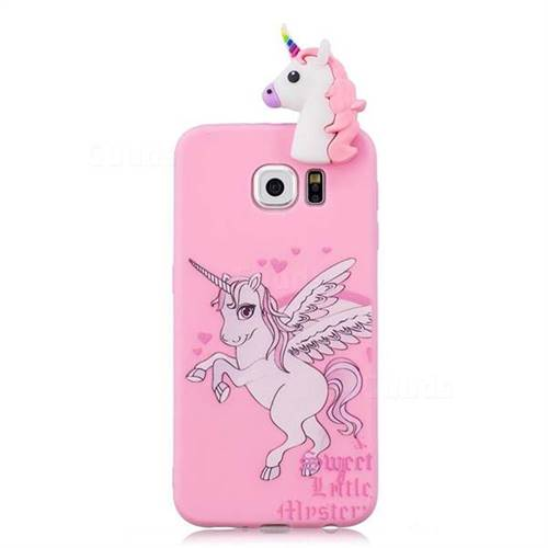 wholesale dealer 98d35 d71da Wings Unicorn Soft 3D Climbing Doll Soft Case for Samsung Galaxy S6 G920