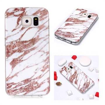 Rose Gold Grain Soft Tpu Marble Pattern Phone Case For Samsung Galaxy S6 G920