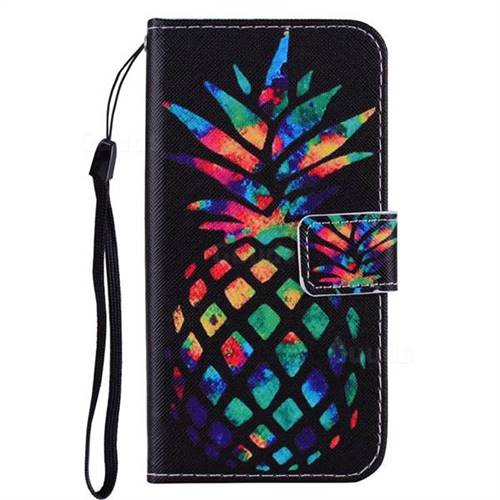 huge selection of 5f5a2 b6504 Colorful Pineapple PU Leather Wallet Phone Case Cover for Samsung Galaxy S6  G920