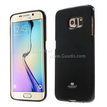 super popular c384b 10a8e Mercury Goospery Glitter Powder Jelly TPU Back Cover for Samsung Galaxy S6  Edge G925 - Black