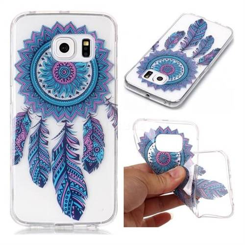 Blue Wind Chimes Super Clear Soft TPU Back Cover for Samsung Galaxy S6 Edge G925