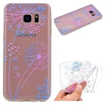 Rainbow Dandelion Super Clear Soft TPU Back Cover for Samsung Galaxy S6 Edge G925