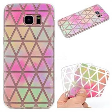 Rainbow Triangle Super Clear Soft TPU Back Cover for Samsung Galaxy S6 Edge G925