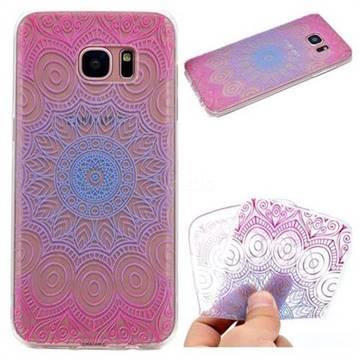Colored Mandala Super Clear Soft TPU Back Cover for Samsung Galaxy S6 Edge G925