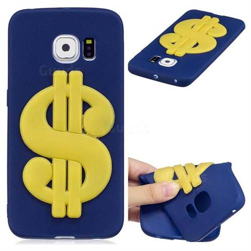 US Dollars Soft 3D Silicone Case for Samsung Galaxy S6 Edge G925