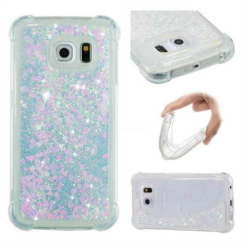 Dynamic Liquid Glitter Sand Quicksand Star TPU Case for Samsung Galaxy S6 Edge G925 - Pink