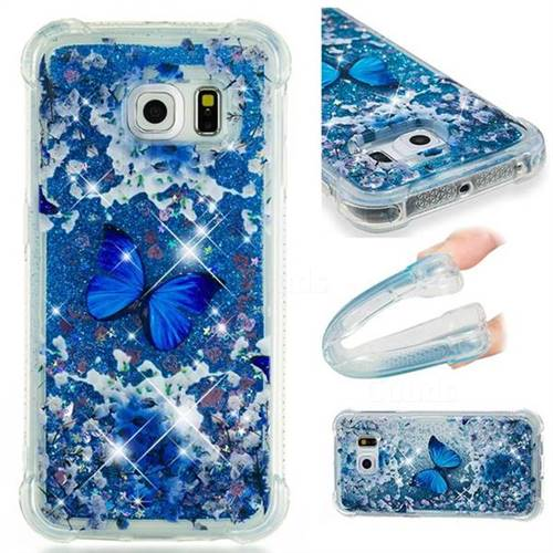 Flower Butterfly Dynamic Liquid Glitter Sand Quicksand Star TPU Case for Samsung Galaxy S6 Edge G925