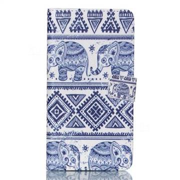 Elephant Tribal Leather Wallet Case for Samsung Galaxy S6 Edge Plus G928 G928P G928A