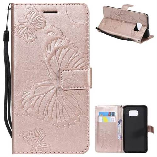 Embossing 3d Butterfly Leather Wallet Case For Samsung Galaxy S6 Edge Plus Edge G928 Rose Gold Leather Case Guuds